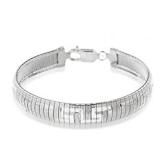 Eternity Sterling Silver Greek Key Bracelet