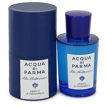 Blu mediterraneo mirto di panarea eau de toilette spray (unisex) by acqua di parma 75 ml