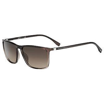 Hugo Boss 0665/N/S NUX/HA Brown-Grey Shaded/Brown Gradient Sunglasses