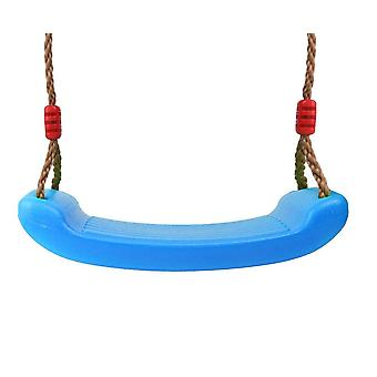 Outdoor Swing Set, Thick Seat With Adjustable Ropes For Park Garden Playground