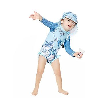 Bonverano Baby Girls UPF 50+ Sun Protection L/S Mangas Zip Sunsuit
