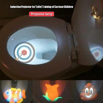Toilet Projector Light Motion-activated Sensor For 4-different Themes, Toilet