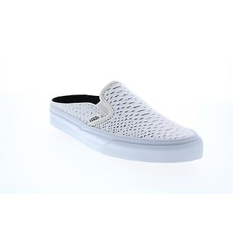 Vans Classic Slip On Mule  Mens White Skate Sneakers Shoes