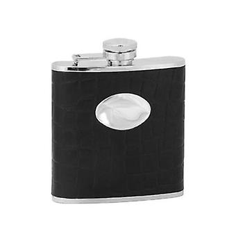 Black Hip Flask With Engraving Plate