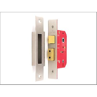 Securit Mortice Sash Lock 5 Lever Brass Plated 75mm S1803