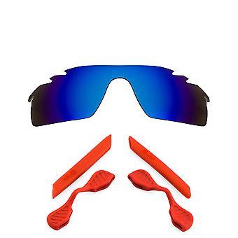 Polariserade Replacement linser kit för Oakley ventilerade Radarlock Path blå röd Anti-Scratch anti-blänk UV400 av SeekOptics