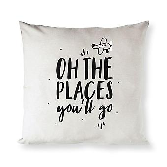 On The Place You'll Go-cotton Canvas Pillow Cover