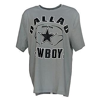NFL Women's Top Dallas Team Logo Camiseta Gris A382710