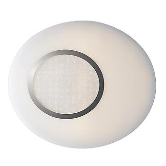 Fan Europe Chic - LED Runde Flush dekorative Deckenleuchte, Silber, weiß, 4000K