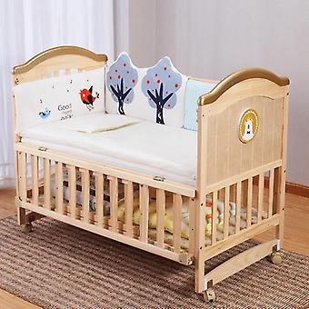 Wieg Massief Hout Ongeverfd Baby Bb/cradle Bed Multifunctioneel kind pasgeboren