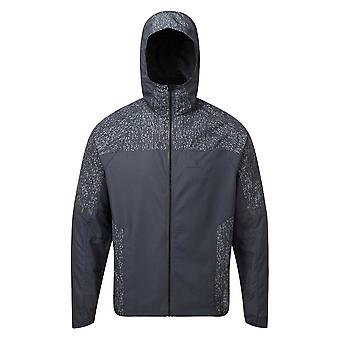 Ronhill Life Nightrunner Mens Water & Wind Resistant Hi-vis Running Jacket Charcoal/reflect