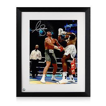 أنتوني جوشوا وقعت الملاكمة الصورة : كليتشكو Uppercut. مؤطره