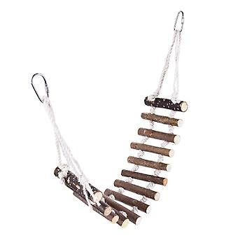 7cm Parrot Log Hangbrug voor Bird Toys Standing Objects Brown