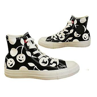 Converse Chuck Taylor CT Hi Top Mens Smiley Face Lace Up Trainers 547344C B71A