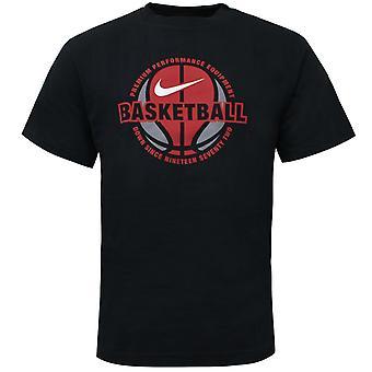 Nike Performance Basquete T-Shirt Mens Logotipo Preto Top 137806 010