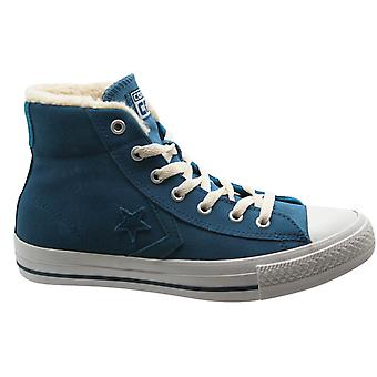 Converse Star Player Mid Unisex Trainers Blue Suede Mens Womens 139699C B80D