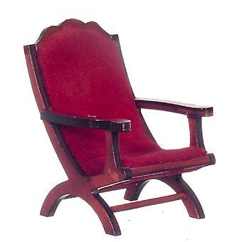 Casa de Muñecas Caoba & Red Campeachy Butaca 1:12 Silla Muebles de Sala de Estar