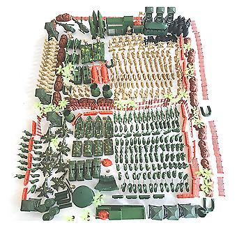 520pcs/set World War II sand table scene military base Plastic soldiers 5cm