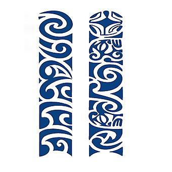 Fake Tattoo 2 Different Motifs Blue