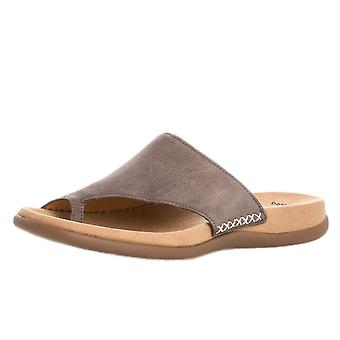 Gabor Lanzarote Confortable Sandal Mules à Fumo