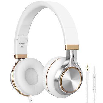 Ακουστικά, biensound hw50c στερεοφωνικά πτυσσόμενα ακουστικά ισχυρή χαμηλά μπάσα ακουστικά με μικρόφωνο για ip