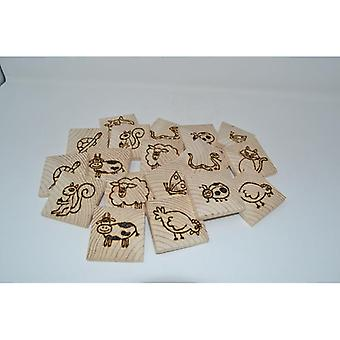 Holz Kinder Memory 18-teilig Memory Spiel Spielzeug Tiermemory Geschenk handmade
