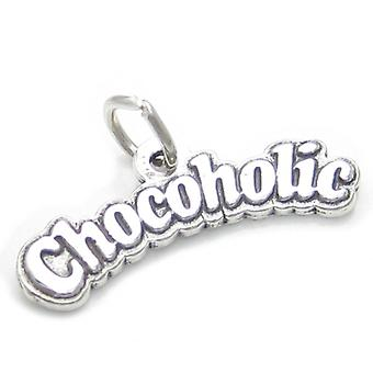 Chocoholic Sterling Silver Charm .925 X 1 Chocolate Sweets Candy Charms - 4061