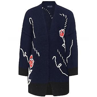 Of Handmade Crocheted Flowers Wool-Cashmere Cardigan