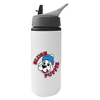 Slush Puppie 00's Logo Aluminium Water Bottle With Straw