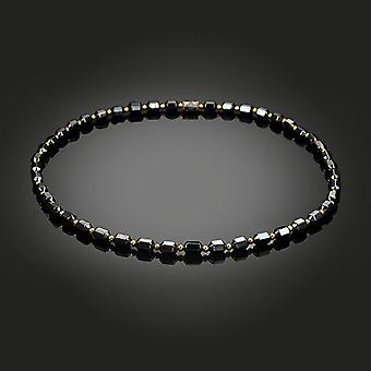 Black Magnetic Hematite Stone Therapy Slimming Health Care Necklace