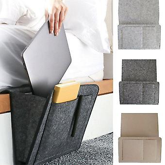 Felt Bedside Storage Organizer Desk Bag Sofa Tv Remote Control Hanging Caddy