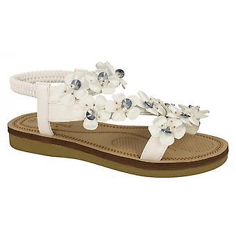 Savannah mujeres/damas flor corte sandalias