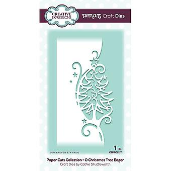 Creative Expressions Paper Cuts Collectie Cutting Dies - O Kerstboom Edger