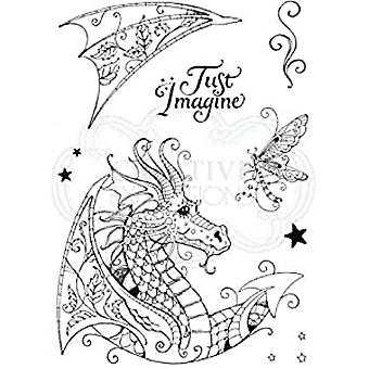 Pink Ink Designs Clear Stamp Dragon A5