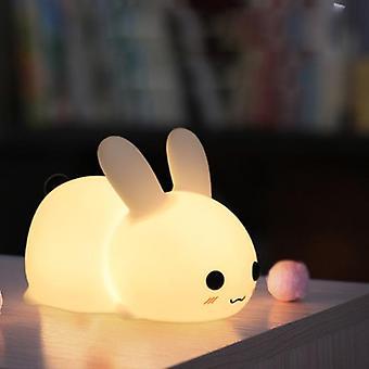 Silicone Jade Rabbit Led Night Light Kids Toy