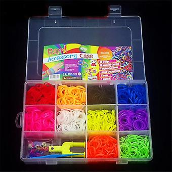 Rubber Loom Bands For, Elastic Band For Weaving, Lacing Bracelets Toy, Box Set