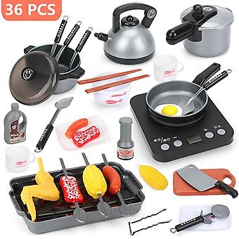 44 stykker mini kjøkken kokekar pot pan barn late kokk leke leketøy