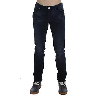 Acht Blue Wash Cotton Stretch Slim Fit Jeans