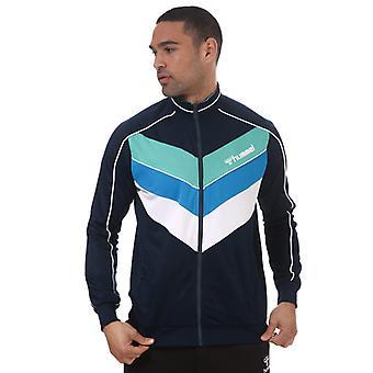 Men's Hummel Liam Zip Track Jacket in Blue
