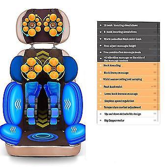 Full body electric vibrating massage cushion neck back waist hip leg heating  massage muscle stimulator massage chai