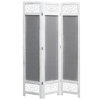 vidaXL 3-piece room divider grey 105 x 165 cm fabric