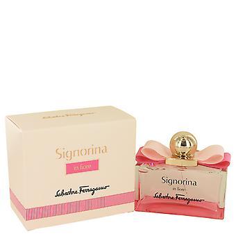 Signorina In Fiore by Salvatore Ferragamo Eau De Toilette Spray 3.4 oz