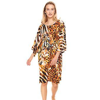 Féraud Voyage 3215011-16425 Women's Placed Animal Print Beach Dress