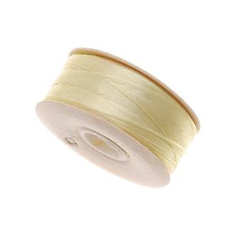 """NYMO Nylon Beading Thread Size D for Delica Beads """"Ivory"""" 64YD (58 Meters)"""