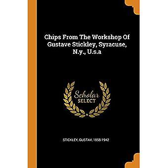 Chips da Oficina de Gustave Stickley, Syracuse, Nova Iorque, EUA