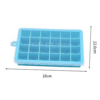 Grid Silicone Ice Cube Maker Form Tray Ice Tray Mould Easy Release Ice Cube(18*12.6cm,Blue)