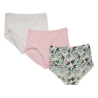 Rhonda Shear Panties Women's 3-pack Smoothing Brief Pink 741378