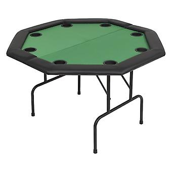 vidaXL 8-speler Poker Klaptafel 2-voudig vouwen Achthoekig Groen