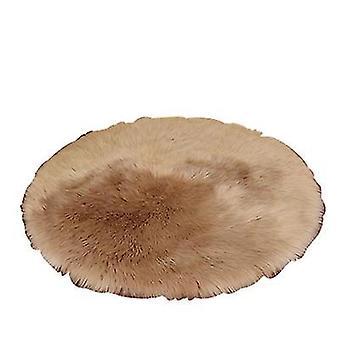 """40 ס""""מ להדביק שעועית קטיפה שטיח עגול חדר שינה עגול כרית az17486"""