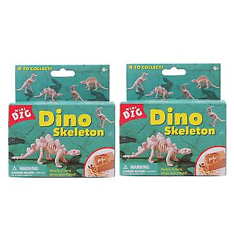 1 Set Six Small Dinosaur Excavation Digging Toy